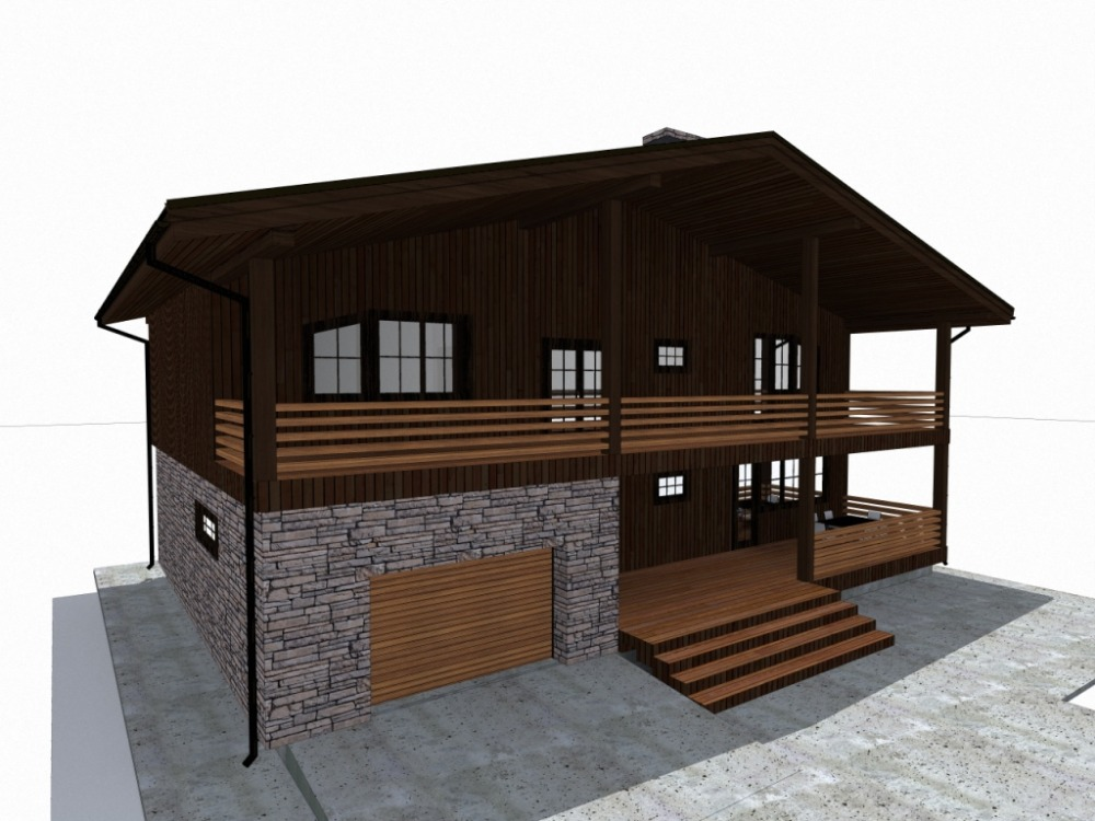 дом 18 х 12 альпийское шале