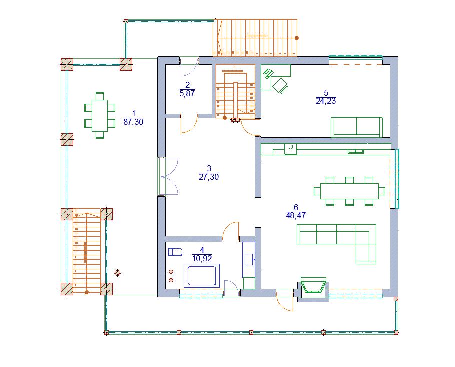 дом 17 х 12 современное шале