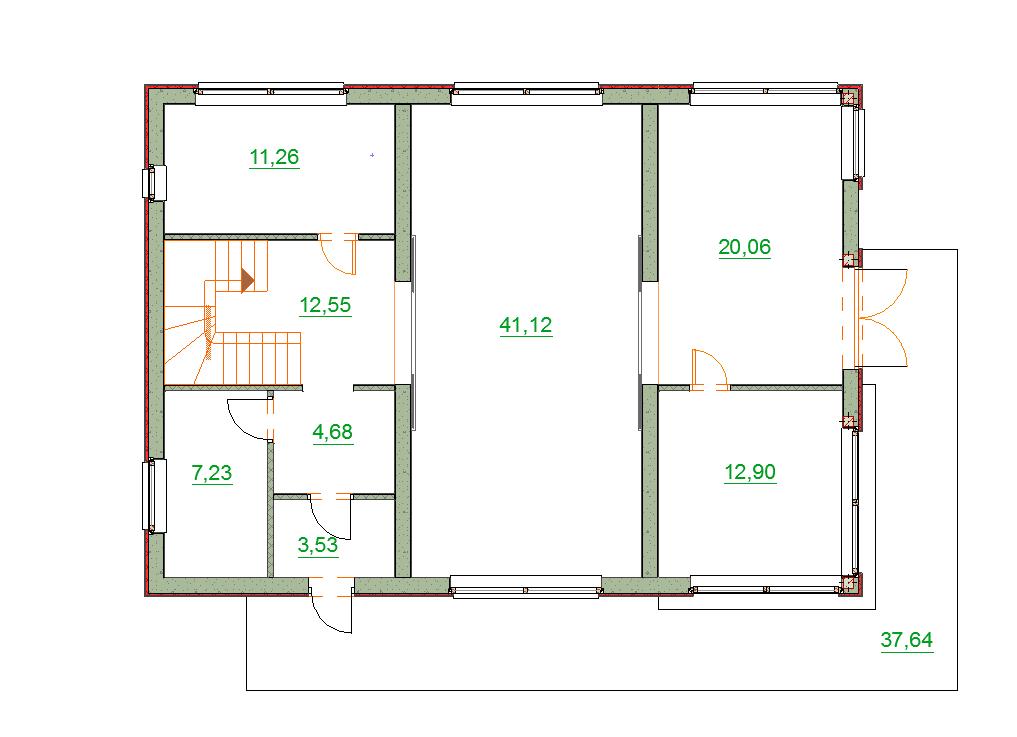 планировка дома модерн