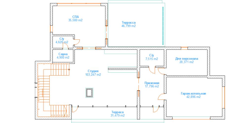 дом 24 х 24 под ключ