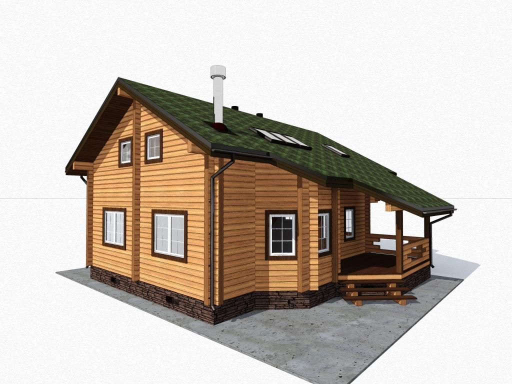 дом 10 х 13 из бруса