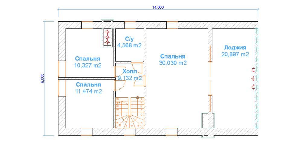 дом 8 х 14 под ключ