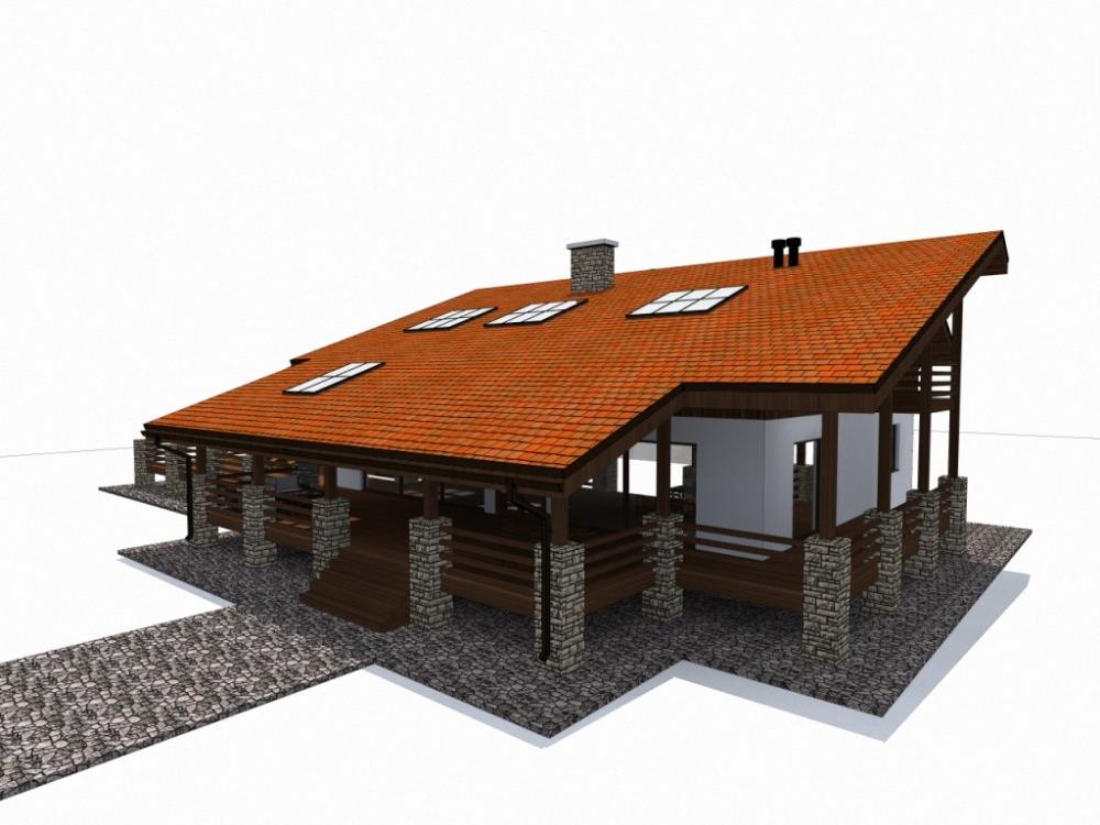 стильный дом альпийское шале