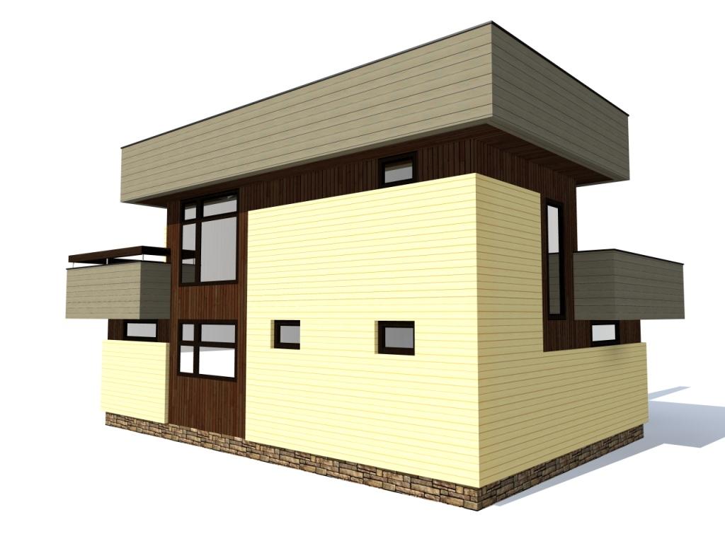 дом дачный 8 х 12