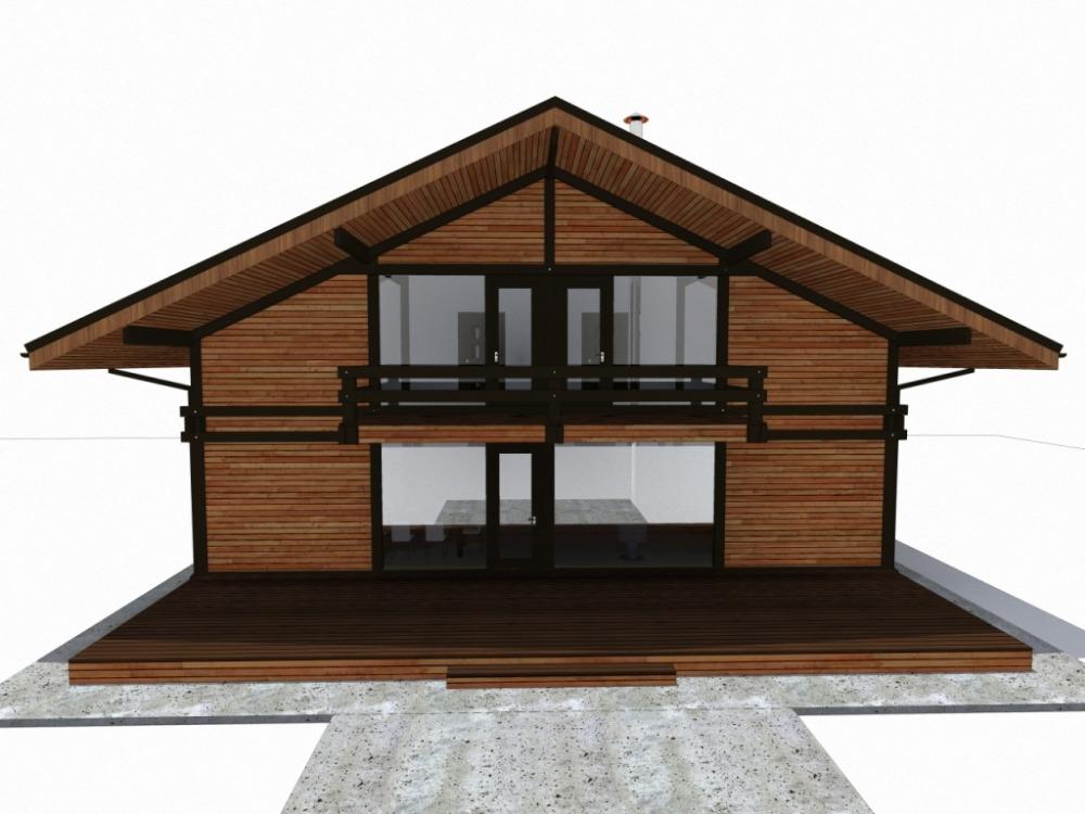 дом 10 х 16 фахверк