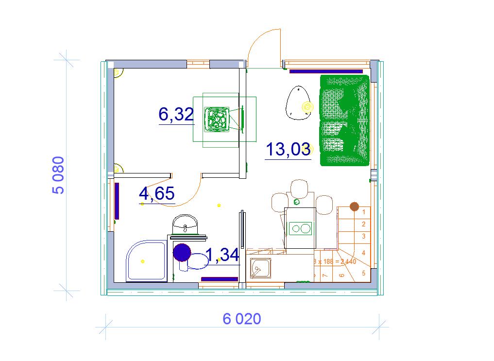 план 1 этаж дома бани