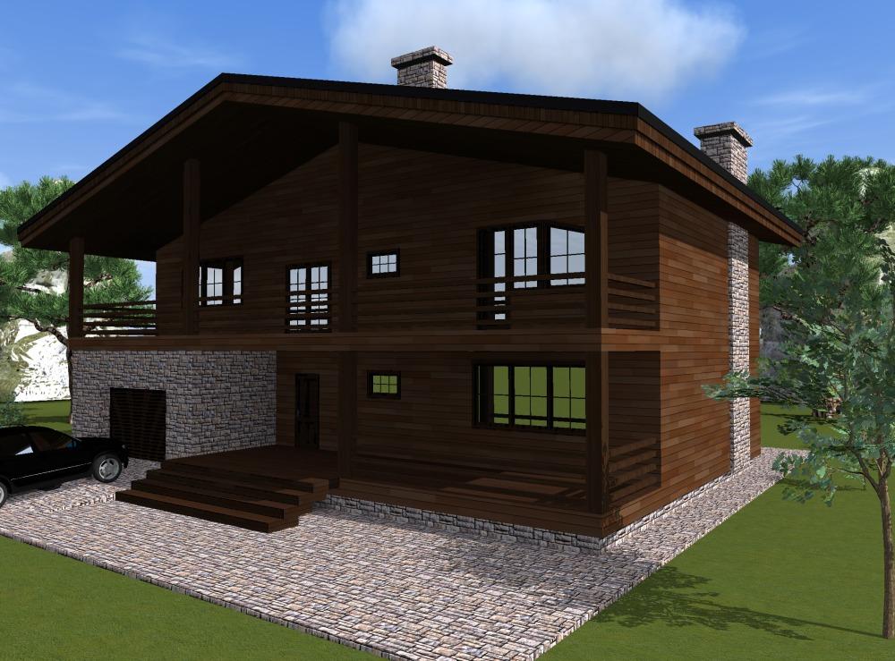 строительство домов шале под ключ