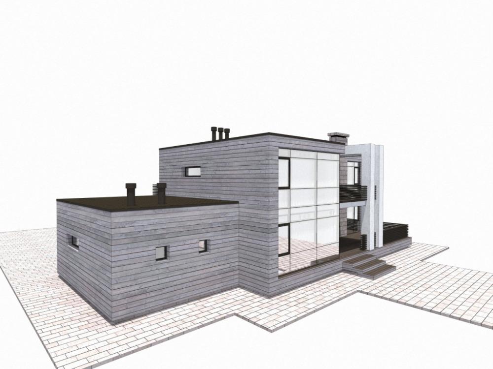 дом 22 х 10 современный минимализм