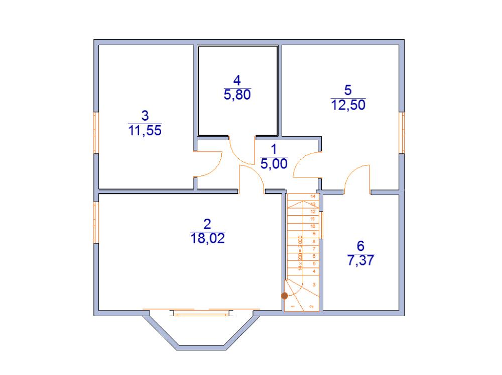 дом из бруса 8 х 9 под ключ