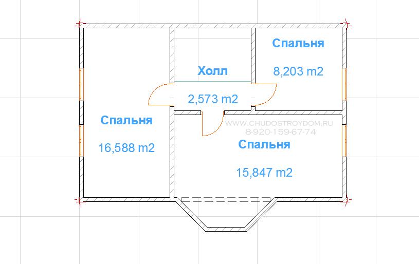 дом 6 х 9 из бруса