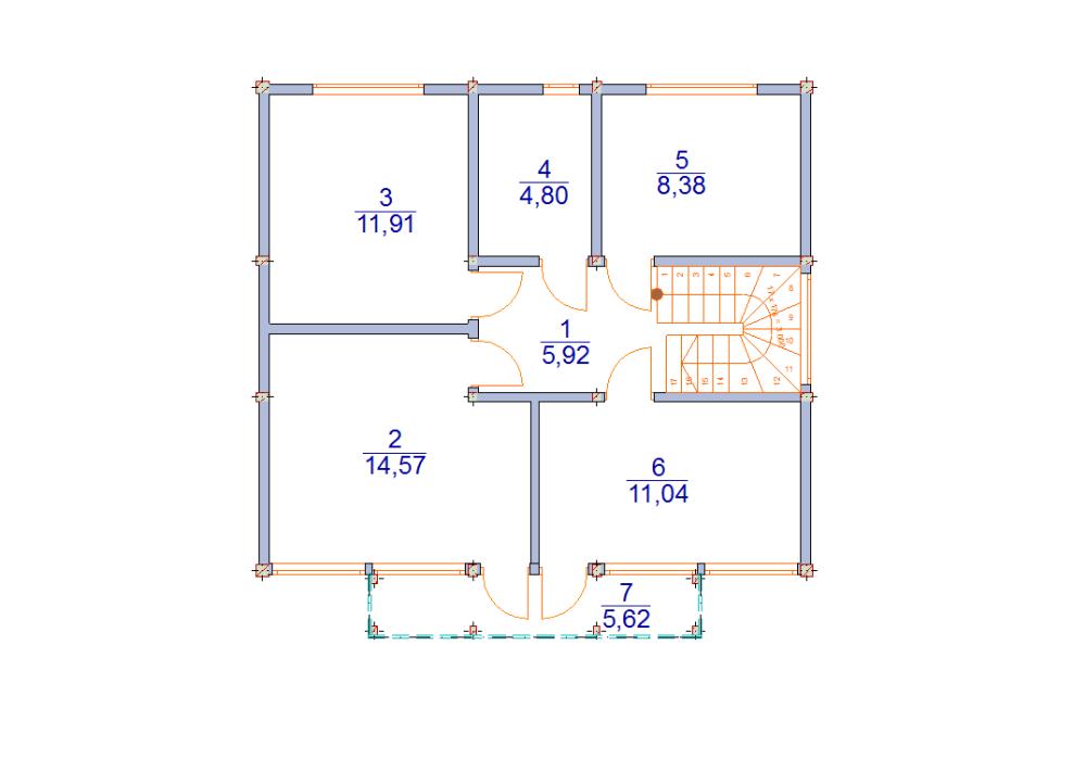 дом 8 х 9 фахверк