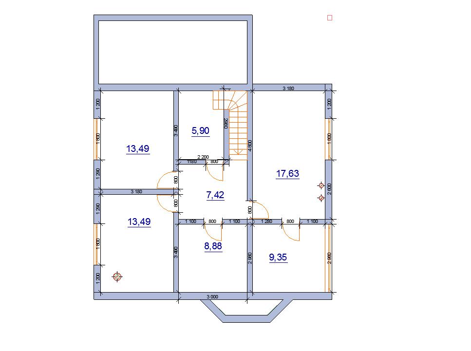 современный дом шале