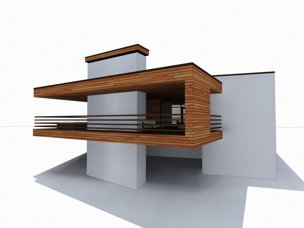 одноэтажный монолитный дом