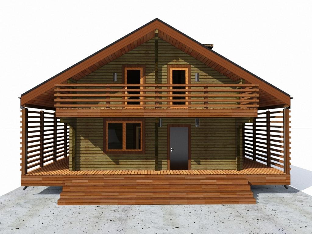 дом 12 х 12 из бруса