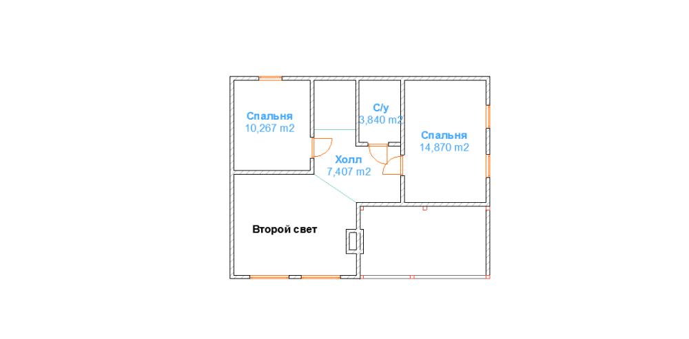 дом 8 х 10 из профилированного бруса