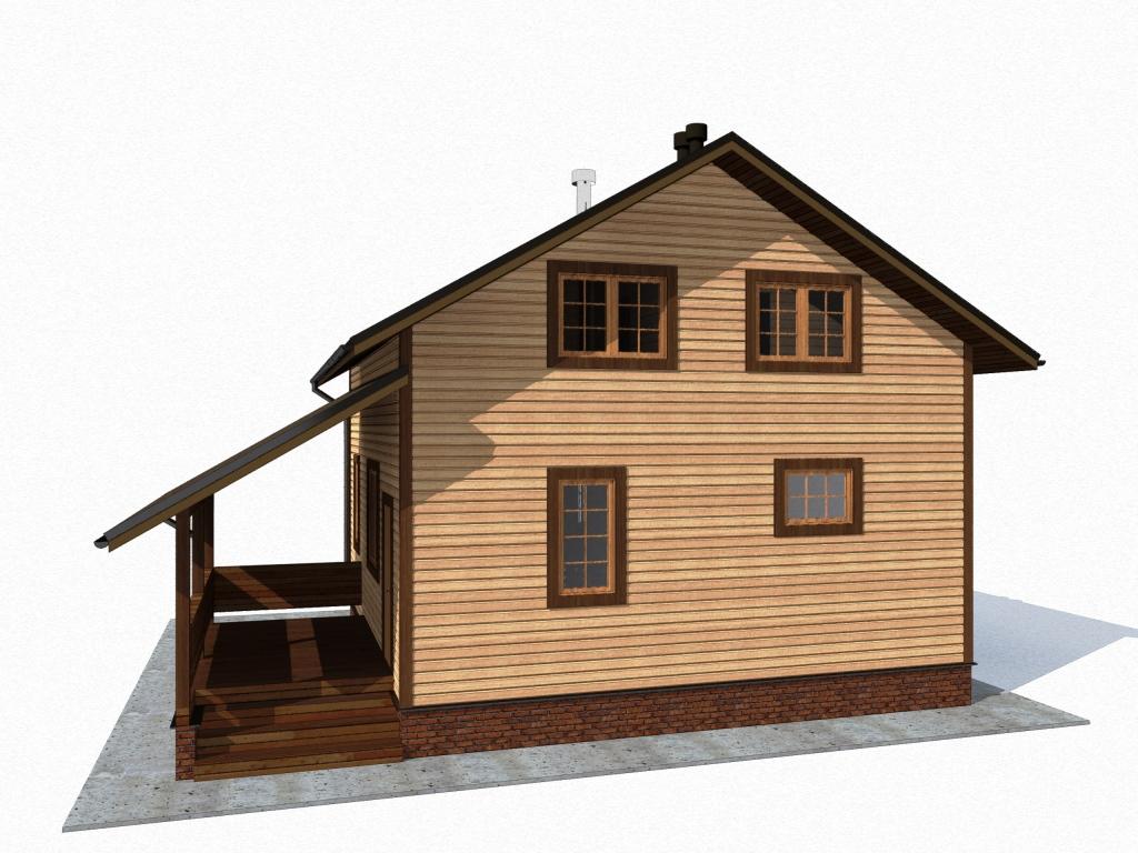 дом 8 х 11 из бруса