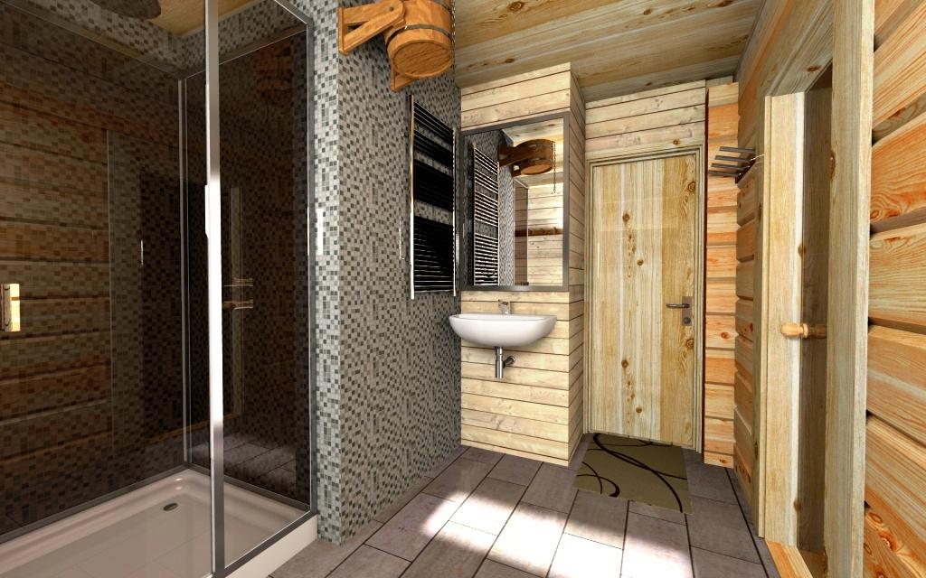 интерьер дом баня