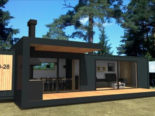 Модульный дачный дом 12х5 современный STUDIO - 50