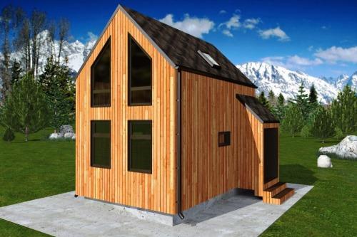 Дом 6 х 4 в скандинавском стиле STUDIO - 42