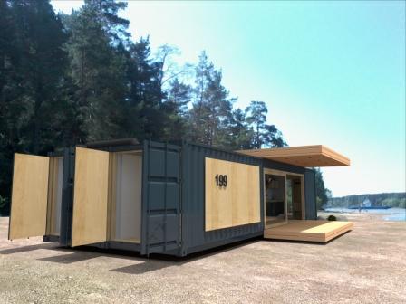Модульный дачный дом 12х7 современный STUDIO - 65